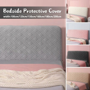 Luxury Velvet Quilted Headboard Cover Soft Bed Head Back Protector Slipcover Dec