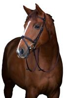 Horseware Ireland Mio Padded Leather Snaffle Bridle with Rubber Reins