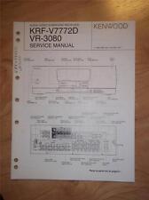 Kenwood Service Manual~KRF-V7772D/VR-3080 AV Receiver~Original Repair