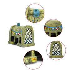 Pop Aquarium Ornament Fish Tank SpongeBob KRUSTY KRAB Resin House Decorations CA