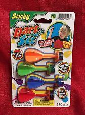4 Pack Of Sticky Darts Set Soft Sticky Tips Reusable JaRu Ages 6+ New
