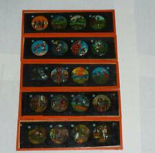 5 alte Glasbilder Laterna Magica Märchen (19A) 20cmx6cm