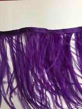 Ostrich Feather Fringe ,sold by yards ,6/7 inches lenght ,purple color