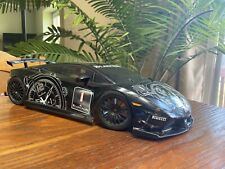 Painted Tamiya 1/10 R/C Lamborghini Gallardo Blancpain Body Shell With Wheels