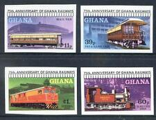 Ghana 1978 75th Anniversary of Ghana Railways set 4 imperf mint (2017/05/23#05)