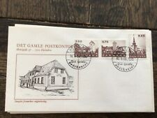 stamps Denmark 🇩🇰 FDC 1990 Villages Churches from Jutland #988-990