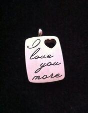 I Love You More Cremation Necklace Pendant Urn Casket Memorial Ashes Keepsake