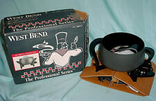 West Bend Professional Series 88012 Fondue Pot Cooking Electric New Grey Black