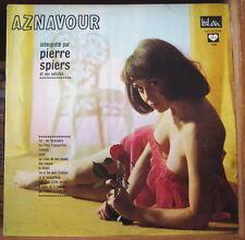 AZNAVOUR INTERPRETE PAR PIERRE SPIERS CHEESECAKE SEXY COVER FRENCH LP BEL AIR