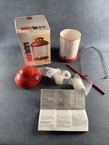 Weber Candle Lantern Red Vintage 1984 Rust Proof Cast Aluminum Enamel