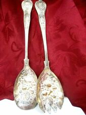 SILVERPLATED SILVERCRAFT SALAD FORK & SPOON MADE IN SHEFFIELD ENGLAND SET