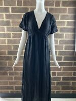 NWT Hard Tail Women's Spa Maxi Dress Color Black Size Small