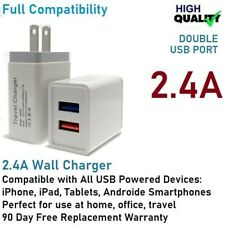 12W 5V 2.4A Double Usb wall Charger Cube for iPhone 6,7,8,X,11,Samsung S8,S9,S10