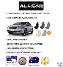 Sheepskin Car Seatcovers for a Kia Cerato , Seat Airbag Safe, 5 Colours.30mm TC