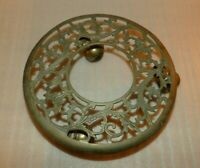 Vintage Ornate Rolling Brass Plant Base Stand Dolly Roller With Caster Wheels