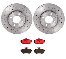 Front Drilled Disc Rotors & Ceramic Pads Brembo Brake Kit For Jetta GLI 16-Valve