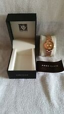 Anne Klein Womens AK/1450 Rose Gold Tone
