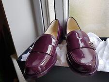 Chanel 100% Authentic New Dark Purple patent leather, size 38 1/2 EU