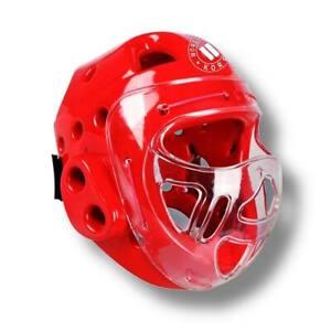-50% Reduziert  Kopfschutz mit Visir; Taekwondo, Kickboxen, Karate, Maske