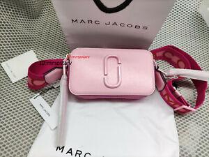 HOT Brand MARC JACOBS Snapshot Small Camera Bag PINK ROSE bag sales..