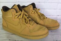Nike Youth Size 7 7Y Court Borough Mid GS Wheat Brown Sneakers Shoes 839977 700
