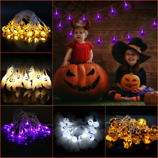 Halloween LED Fairy String Lights Party Decor Scary Hanging Lamp Prop Battery