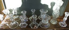 Assorted Vintage Crystal and Glass Candlestick Holders Sold Individually