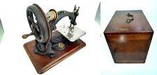 1 Willcox & Gibbs Nähmaschine 1877? Silent Sewing Machine + Zubehör