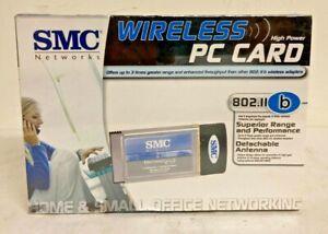 SMC Network Wireless High Power PC Card 802.11 b SMC2532W-B Factory Sealed