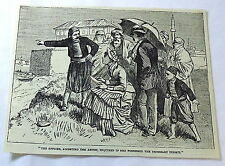1886 magazine engraving~ OFFICER ACCOSTING THE ARTIST about possession of permit