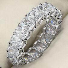 7.15 ct Radiant Cut Diamond 18k White Gold Eternity Band 18 x 0.39-0.40 ct E-F