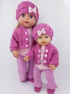 VANABU® Puppenkleidung Set für 40 cm - 43 cm Baby Puppen NEU