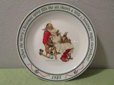 1985 Hallmark Norman Rockwell Christmas Santa & His Helpers Collector's Plate