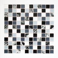 Mosaik Fliese selbstklebend Transluzent schwarz grau wei�Ÿ %7c200-4CM28_f10 Matten