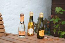 Empty mini prosecco bottles set of Four