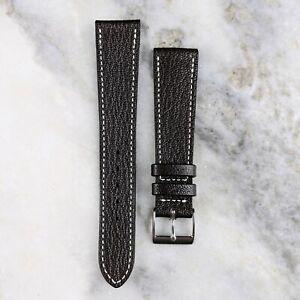 Genuine Goatskin Leather Watch Strap - Dark Brown - 18mm/19mm/20mm