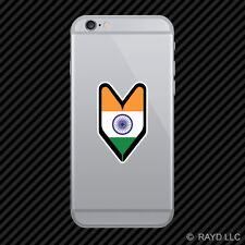 Indian Driver Badge Cell Phone Sticker Mobile India IND IN