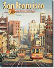 New San Francisco The Lindbergh Line Decorative Metal Tin Sign