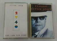 Elton John Cassette Lot - Too Low For Zero - Classic Elton John