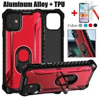 For iPhone 11 Pro Max XR Shockproof Magnetic Stand Ring Holder Hybrid Case Cover