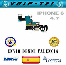 "CABLE FLEX CONECTOR DE CARGA DOCK MICROFONO Y ANTENA IPHONE 6 4.7""  BLANCO"
