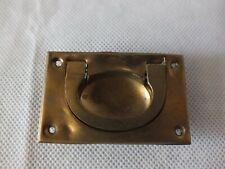 Vintage Flush clip Handle Brass Antique Cabinet Drawer Pulls