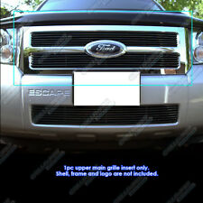Fits 2008-2012 Ford Escape Black Main Upper Billet Grille Grill Insert