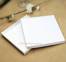100 x White Square Invitation Box - 160 x 160mm Semi Gloss