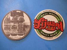 Beer COASTER: TIJUANA TJ Real Mexican Craft Lager ~ Cervecero de Baja California