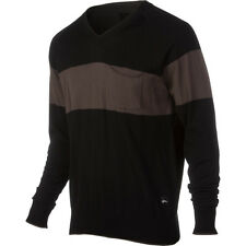 IMPERIAL MOTION Cotton V NECK Ski CASUAL SWEATER Shirt MENS sz SMALL Black BROWN