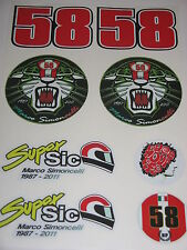 Marco Simoncelli sticker kit 3 - RIP Super Sic 58