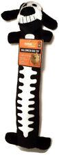 "Multipet Loofah Loofa 12"" long Black Halloween Skeleton Plush Squeaky Dog Toy"