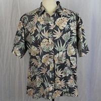 Cooke Street Honolulu Camp Aloha Hawaiian Short Sleeve Shirt Floral Cotton Sz XL