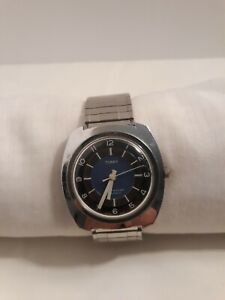 Vintage Timex Speidel WORKING Men's Watch Self Wind Water Resistant Silver